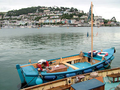 The view from Dartmouth over to Kingswear