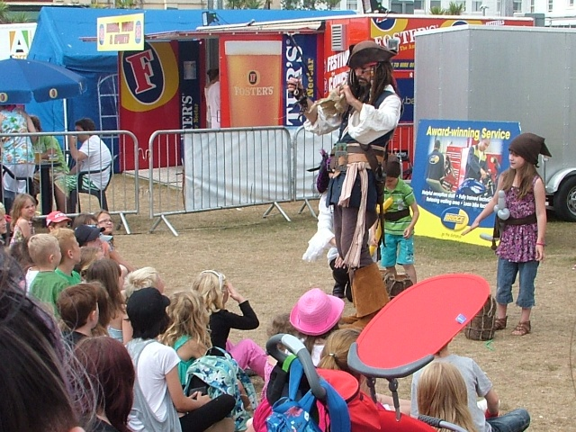 Pirate entertainment at Torbay Carnival