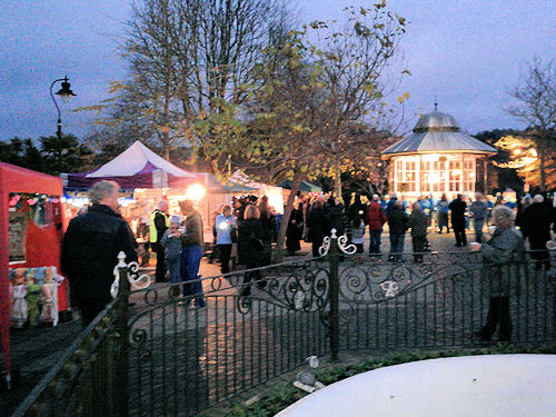 Stalls in the Royal Avenue Gardens